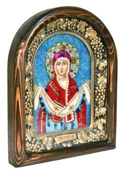 Покров Пресвятой Богородицы, дивеевская икона из бисера ручной работы - фото 4836