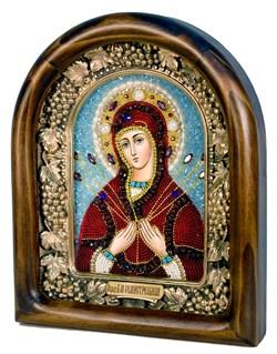 Семистрельная образ Божией Матери, дивеевская икона из бисера ручной работы - фото 4840