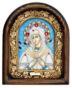 Семистрельная образ Божией Матери, дивеевская икона из бисера ручной работы - фото 4844