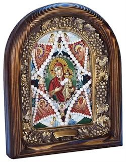 Неопалимая Купина образ Божией Матери, дивеевская икона из бисера ручной работы - фото 4878