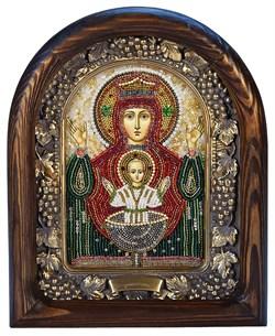 Неупиваемая Чаша образ Божией Матери, дивеевская икона из бисера ручной работы - фото 4886