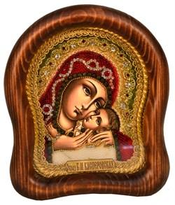 Касперовская Божья Матерь, дивеевская икона из бисера ручной работы - фото 4888