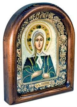 Ксения Петербургская, дивеевская икона из бисера - фото 4918