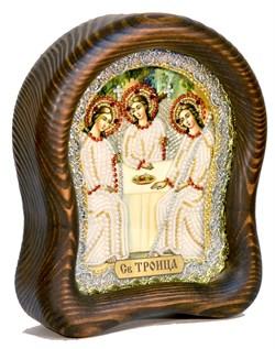 Святая Троица, дивеевская икона из бисера ручной работы - фото 4947