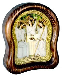 Святая Троица, дивеевская икона из бисера ручной работы - фото 4948