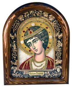 Георгий Святой Великомученик, дивеевская икона из бисера ручной работы - фото 4982