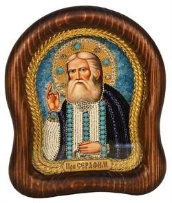Серафим Саровский Преподобный, дивеевская икона из бисера ручной работы - фото 5004