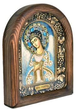 Ангел Хранитель, дивеевская икона из бисера ручной работы - фото 5028