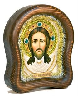 Спас Нерукотворный, дивеевская икона из бисера ручной работы - фото 5054