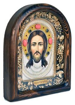 Спас Нерукотворный, дивеевская икона из бисера ручной работы - фото 5056