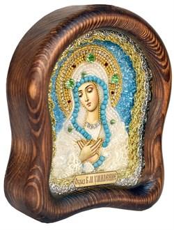 Умиление образ Божией Матери, дивеевская икона из бисера ручной работы - фото 5072