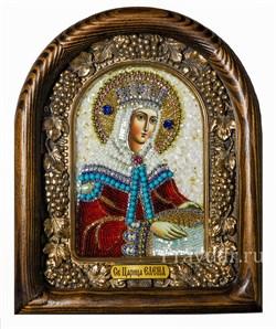Елена Святая царица равноапостольная, дивеевская икона из бисера - фото 5086