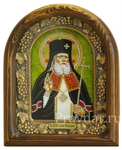Лука Войно-Ясенецкий Святитель, дивеевская икона из бисера ручной работы - фото 5126