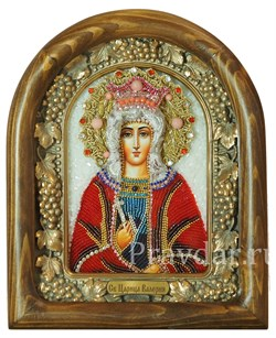 Валерия Святая Царица , дивеевская икона из бисера - фото 5136