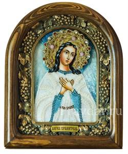 Ангел Хранитель, дивеевская икона из бисера ручной работы - фото 5234