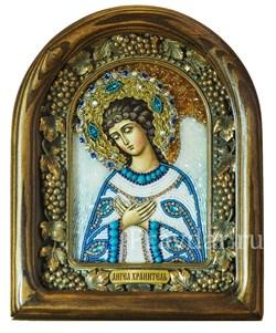 Ангел Хранитель, дивеевская икона из бисера ручной работы - фото 5236