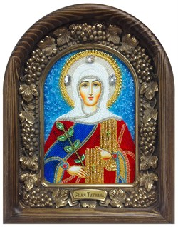 Татьяна Святая мученица, дивеевская икона из бисера - фото 5258