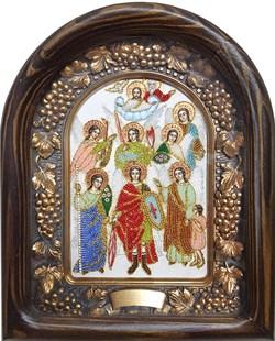 Собор Архангела Михаила, дивеевская икона из бисера ручной работы - фото 5271