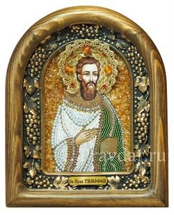 Тимофей Святой праведный, дивеевская икона из бисера - фото 5300