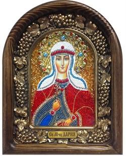 Дария Святая мученица, дивеевская икона из бисера - фото 5357