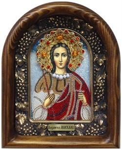 Михаил Архангел, дивеевская икона из бисера ручной работы - фото 5361