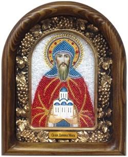 Даниил Московский, дивеевская икона из бисера ручной работы - фото 5364