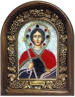 Георгий Святой Великомученик, дивеевская икона из бисера ручной работы - фото 5366
