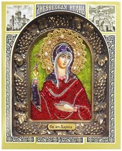 Лариса Готфская Святая мученица, дивеевская икона из бисера - фото 5393