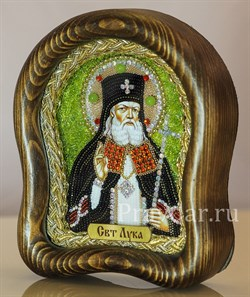 Лука Войно-Ясенецкий Святитель, дивеевская икона из бисера ручной работы - фото 5414