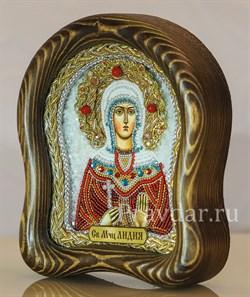 Лидия Святая мученица, дивеевская икона из бисера - фото 5420