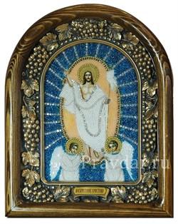 Воскресение Христово, дивеевская икона из бисера ручной работы - фото 5428