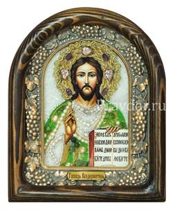 Господь Вседержитель, дивеевская икона из бисера и натуральных камней - фото 5501