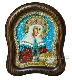 Елена Святая царица равноапостольная, дивеевская икона из бисера - фото 5506