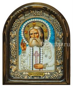 Серафим Саровский Преподобный, дивеевская икона из бисера ручной работы - фото 5508