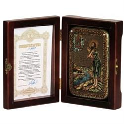 Алексий человек Божий икона ручной работы под старину - фото 5579