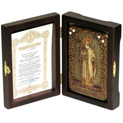 Владимир Святой князь икона ручной работы под старину - фото 5619