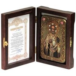 Иоанн Златоуст икона ручной работы под старину - фото 5741