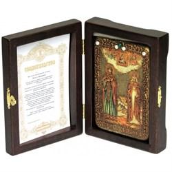 Петр и Феврония икона ручной работы под старину - фото 5865