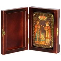 Петр и Феврония икона ручной работы под старину - фото 5875
