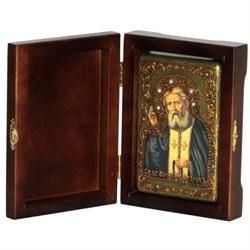 Серафим Саровский икона ручной работы под старину - фото 5885