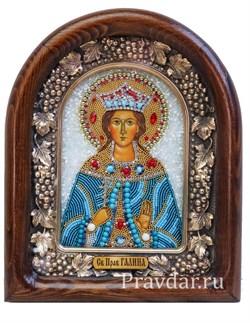Галина Святая праведная, дивеевская икона из бисера - фото 5913