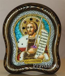 Александр Невский, дивеевская икона из бисера - фото 5925