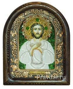 Алексий Преподобный, человек Божий, дивеевская икона из бисера - фото 5928
