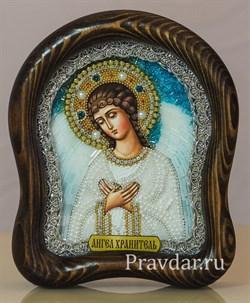 Ангел Хранитель, дивеевская икона из бисера ручной работы - фото 5946