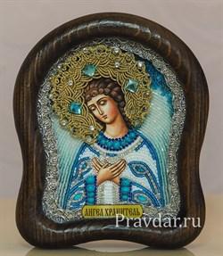Ангел Хранитель, дивеевская икона из бисера ручной работы - фото 5950