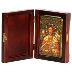 Александр Невский икона ручной работы под старину - фото 6032
