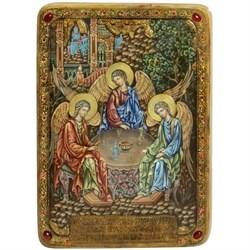 Троица, живописная икона в авторском стиле - фото 6306