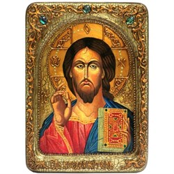 Господь Вседержитель, живописная икона в авторском стиле - фото 6375