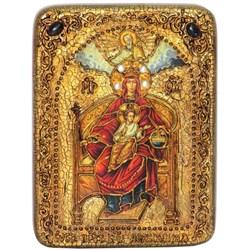 Державная образ Божьей Матери, икона на мореном дубе - фото 6541