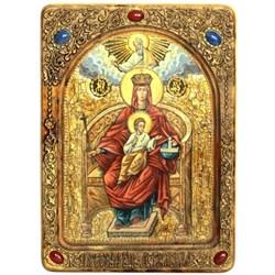 Державная образ Божьей Матери, живописная икона в авторском стиле - фото 6551